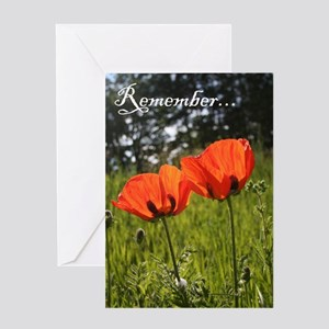 Twin Poppy Greeting Card